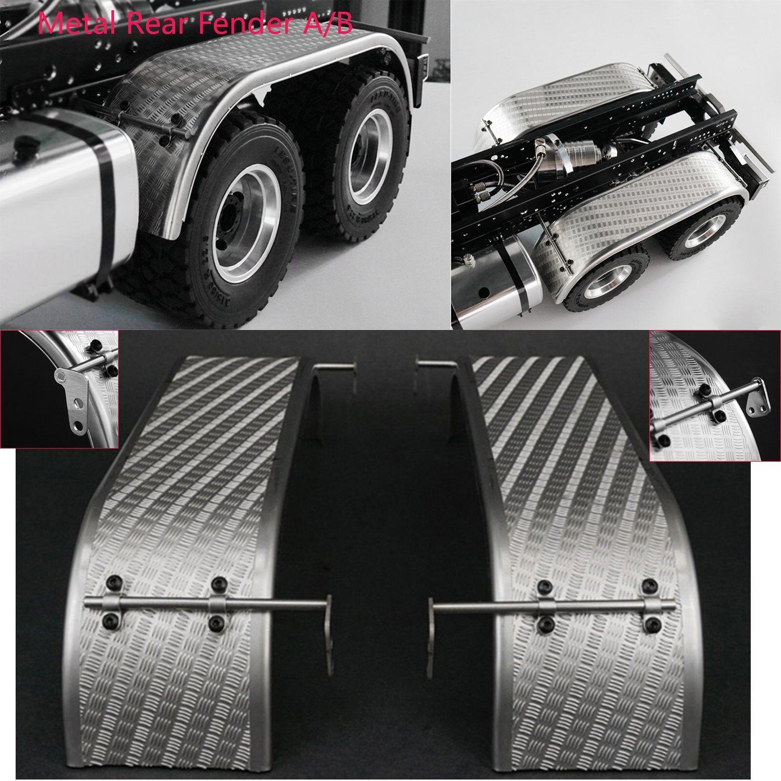 Guardabarros trasero trasero metálico A B para 1 14 Scale RC Coche Modelo para armar uno mismo TAMIYA 3348 Camión
