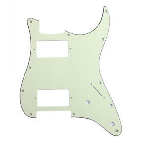 HH-Pickguard-3-Ply-Mini-Green-For-Fender-Strat-Stratocaster-Electric-Guitar
