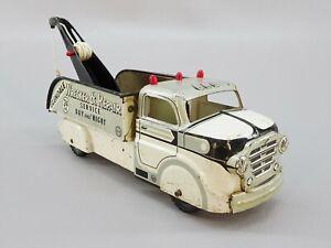 Vintage-MARX-Tow-Truck-Glendale-Wrecker-amp-Repair-Pressed-Steel-1950s-Toy-Vehicle