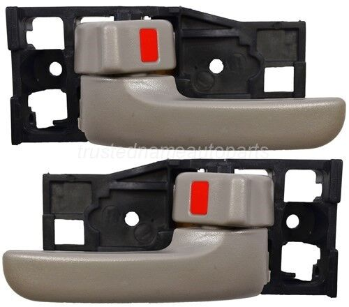 fits Toyota Inside Interior Door Handle Front Driver Passenger Side Gray Set