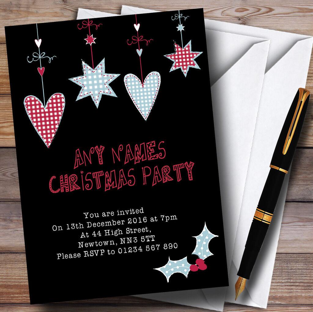 Colgantes Corazones Personalizado Invitaciones Fiesta De Navidad