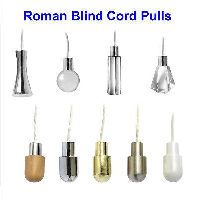 roman blinds /& bathroom light pulls CHROME CORD WEIGHT small