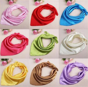 Lady-Women-Soft-Silk-Square-Plain-Scarf-Neck-Headband-Kerchief-Bandana-60x60