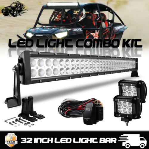 "LED Light Bar 30/"" 32/"" Pods Switch Combo Kit POLARIS RZR XP 1000 2014-2016 1000s"