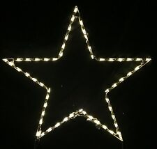 Large Christmas Holiday Star Xmas Outdoor LED Lighted Decoration Steel Wireframe