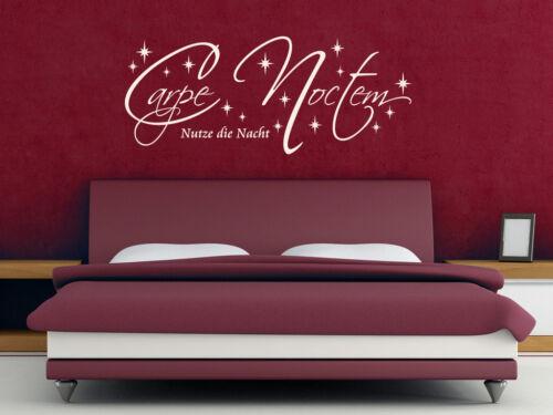 """S243 chambre mural /""""CARPE NOCTEM/"""" profite de la nuit Autocollant"""