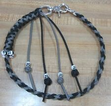 Motorcycle Get Back Wallet Whip / Chain USA Paracord Made Silver and Black