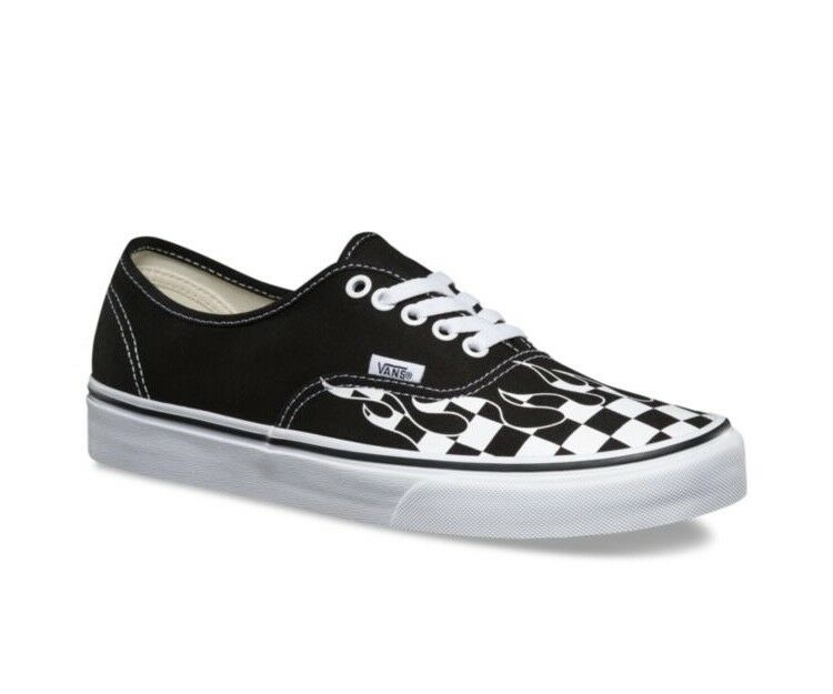 b40d23df389e Vans Old Skool Checker Checker Checker Flame Board Black White Mens and  Kids Sz Checkerboard 84cabb