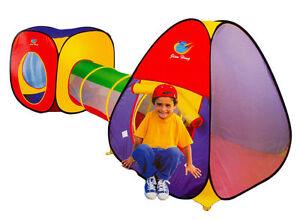 Ninos-Infantil-Bebe-Plegable-Tienda-3-Pieza-Set-Juego-Casa-amp-Tunel-Bola-Pit