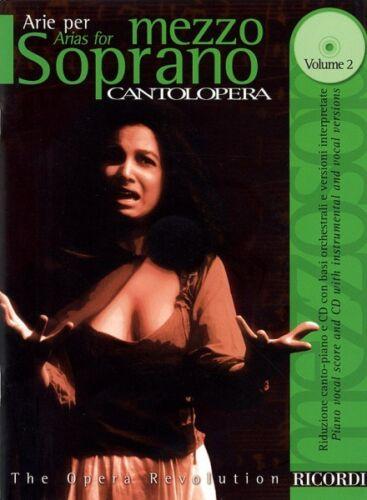 Arias for Mezzo-Soprano Volume 2 Cantolopera Collection V 050484918 Cantolopera