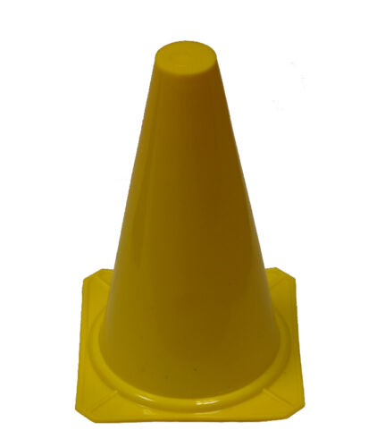 SAFETY CONE FIELD TRAINING SOCCER 12 YELLOW WORKOUTZ SPORT CONES 9-INCH TALL