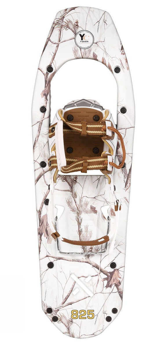 Yukon Charlie's REALTREE Xtra Molded Snowshoes 8x25 (up to 200lbs) Snow Camo New