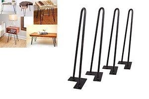 """18'' Set of 4 Hairpin Coffee Table Legs 1/2"""" Solid Steel DIY Vintage Table Legs"""