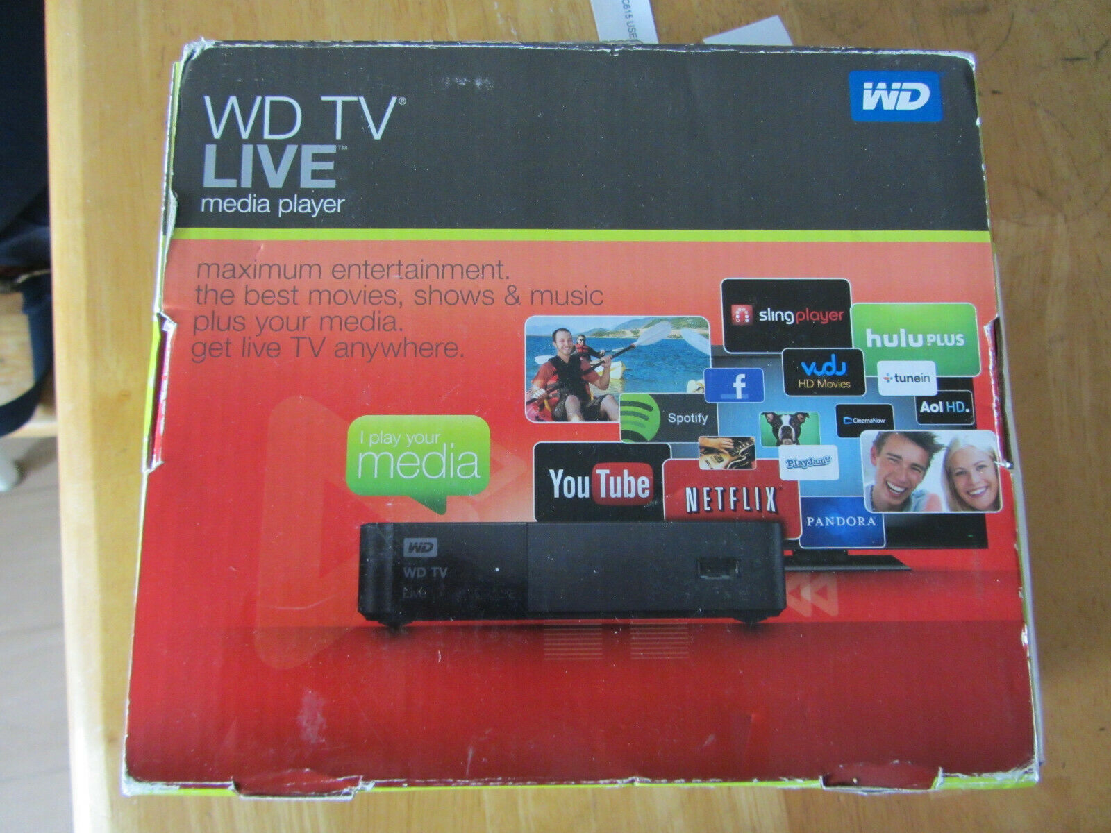 WD TV 1080p Live Streaming Media Player with Wi-Fi WDBHG70000NBK 1080p live media player streaming wdbhg70000nbk with