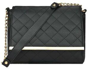 Damen Handtasche Damentasche Schultertasche Umhängetasche Crossover Kette FB129