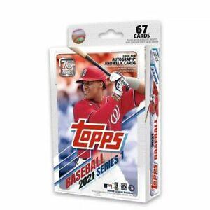 2021 Topps Series 1 Baseball MLB - Hanger Box 67 Cards Factory Sealed Brand New