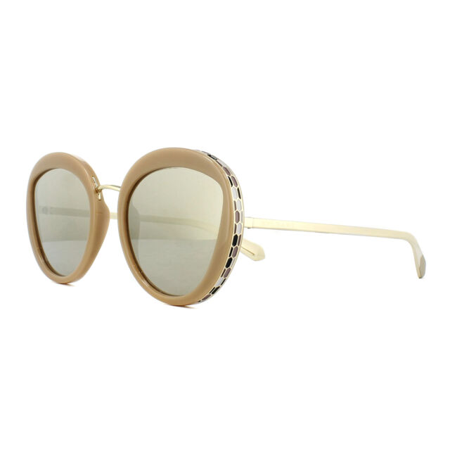 b5d20968c36ae Bvlgari Sunglasses 8191 11215a Beige Light Brown Mirror Gold for ...