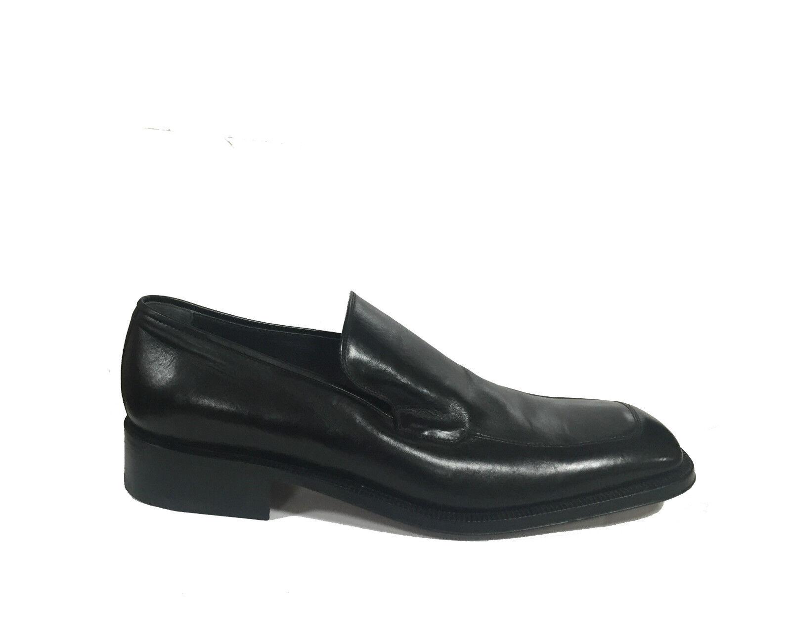 FABI shoes men mocassins en cuir kangourou color black made in