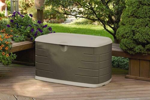 Storage Deck Box Outdoor Container Bin Chest Patio Rubbermaid 73 Gallon Bench