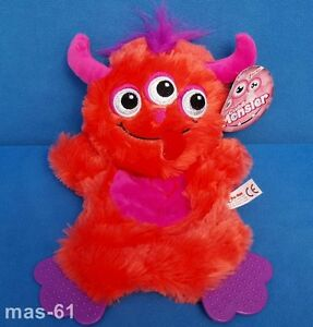 Toi-TOYS-Cuddle-Monster-28-cm-ROSSO-PELUCHE-Knister-morbido-Schlenker-Knuffel