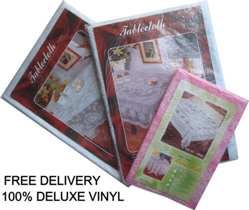 Vinyl Tablecloth Wipe Clean