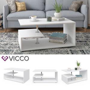 Details Sur Vicco Table Basse Guillermo Table De Salon Blanc Table De Canape Table D Appoint