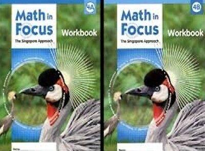 Grade 4 Math in Focus Student Workbook Set 4A & 4B Singapore Approach 2009