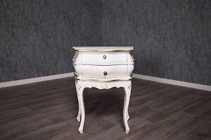 baroque-table-de-chevet-Bac-commode-ancien-massif-Empire-console-Or-Blanc