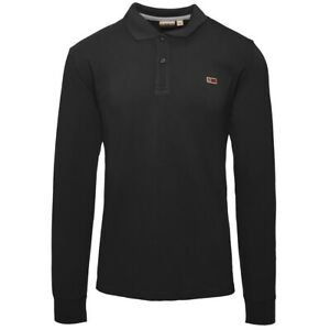 Napapijri-Taly-2-Long-Sleeve-Polo-Shirt-Pullover-Sweater-Black-N0YIX7041