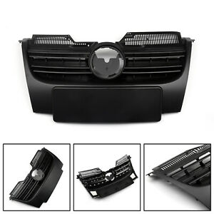 Black-Front-Upper-Bumper-Grille-For-VW-Jetta-MK5-2006-2009-T05