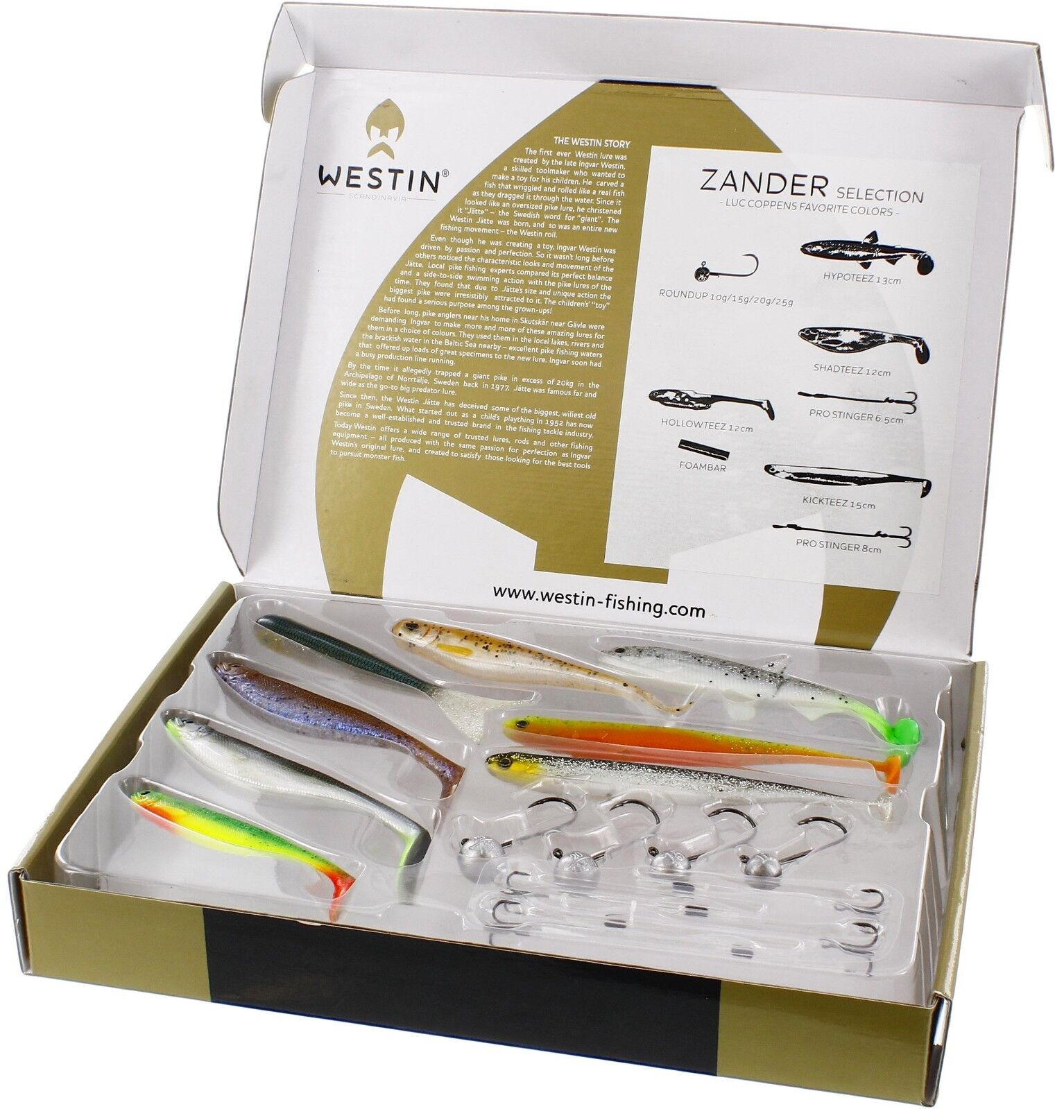 Westin European Zander Selection - Ideal Christmas present -  Lure  free shipping on all orders