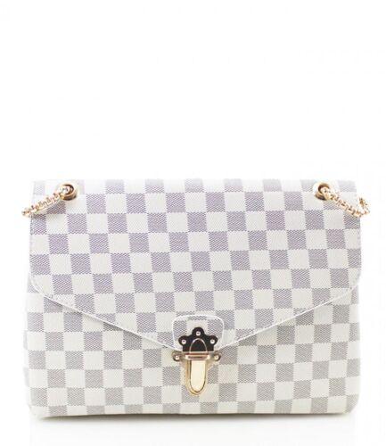 Designer Inspired Checkerboard Chain strap shoulder bag Various colours