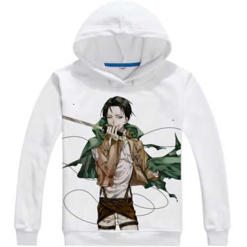 Attack On Titan Hoodie Sweatshirt Thick Pullover White Coat Jacket Anime Cosplay