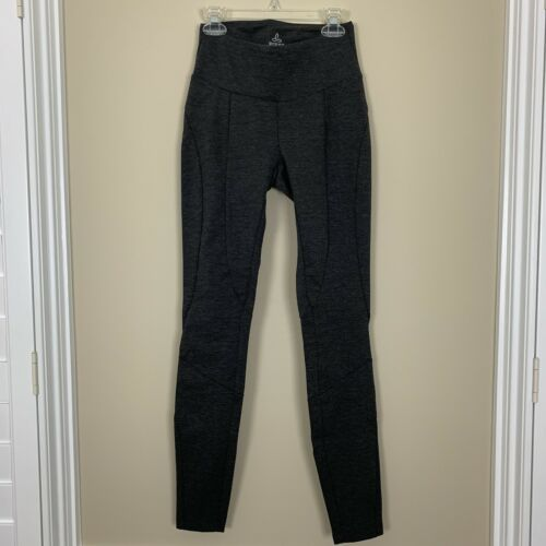 prAna Womens Moto Leggings Ergonomic Mid-Rise Pants Charcoal Gray XS NWT
