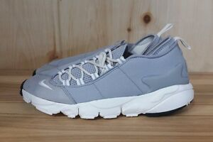 NIKE AIR FOOTSCAPE NM WOLF GREY SUMMIT WHITE BLACK SIZE 6 852629-003