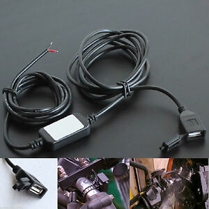 12V-2A-Waterproof-USB-Power-Supply-Port-Socket-Charger-Outlet-Touring-for-Moto