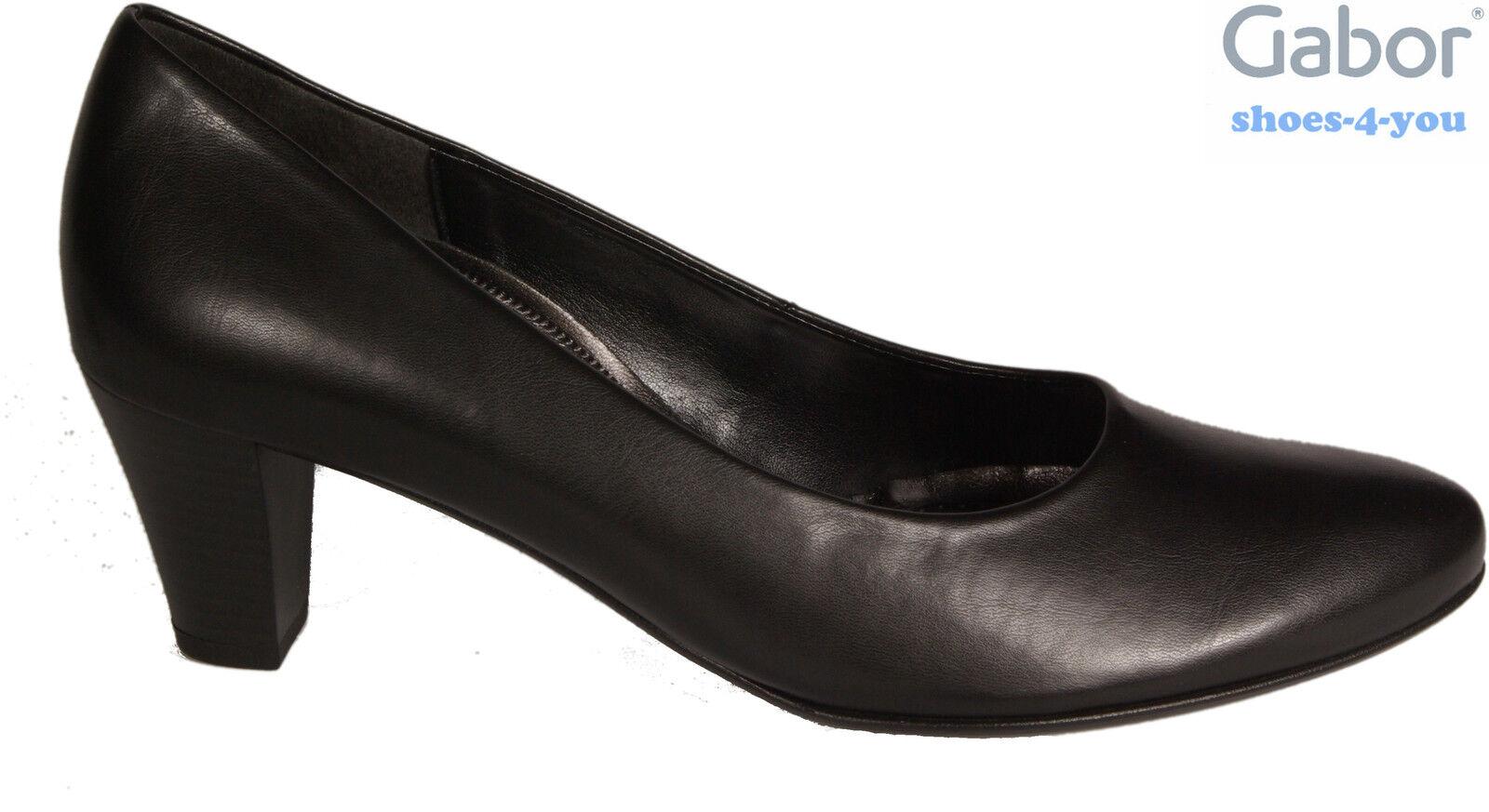 GABOR Schuhe Pumps schwarz G-Weite Absatz 55 mm NEU