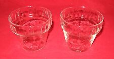 McDonalds Glass Sundae Glasses Set of 2 in Great Condition  D-2