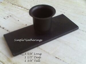 Iron-Candle-Holder-Taper-Windowsill-BLACK-STURDY-Farmhouse-3-5-8-034-Long-Primitive