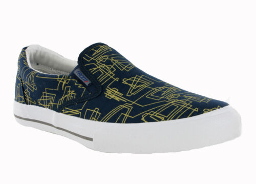 Frente London Fashion Smart Casual Slip On Azul Marino Gris Mens lona Zapatos De Salón
