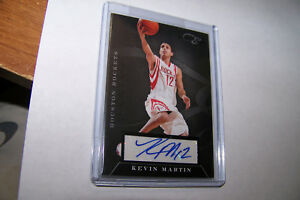 Rare-2011-Panini-Kevin-Martin-Autograph-Houston-Rockets-Serial-77-149-NBA-Card