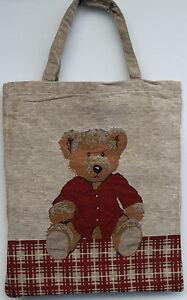 Baerchen-Tasche-Gobelin-Teddy-motiv-Einkaufs-Beutel-Einkaufstasche-Shopper