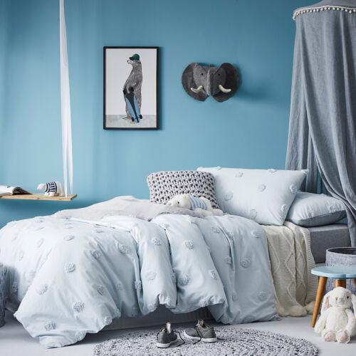 Adairs Kids Chenille Spot Single Quilt Cover Set BNIP RRP $139.99