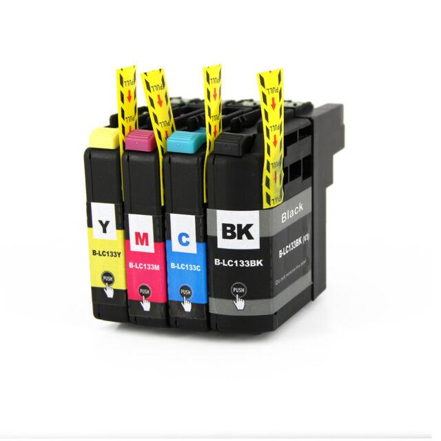 4 for LC133 BK LC135XL Ink w Chip Brother MFC-J6920DW MFC-J6520DW MFC-J6720DW V3
