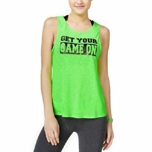 b95d5e2e568fd Details about Material Girl Active Juniors  Strappy-Back Graphic Tank Top