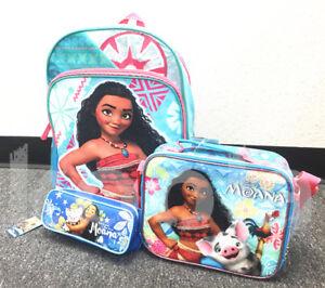 Image Is Loading Disney Moana School Backpack Lunch Bag Set 16