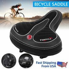 Comfort Wide Big Bum Bicycle Gel Cruiser Sporty Soft Saddle Pad Equipment Q1W8