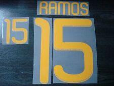 RARE! RAMOS #15 Spain Home and Away WC 2010 PU Name + Numbering