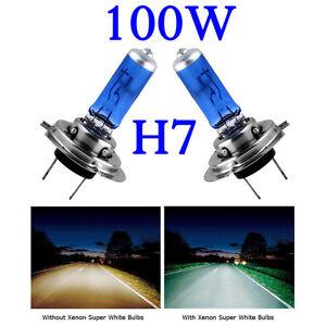 H7 100W HID WHITE XENON HALOGEN BULBS 12V PLASMA UPGRADE 6000k HONDA VAUXHALL VW
