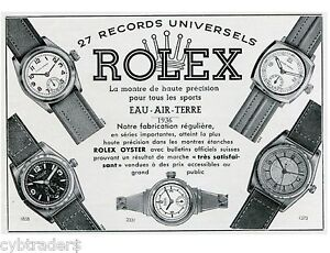 Detalles de 1936 Rolex Oyster Reloj ad Swiss Estampado Nuevo! refrigerador Imán ver título original
